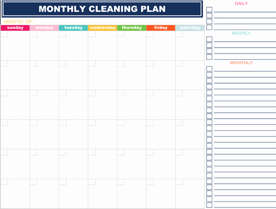 Weekly House Cleaning Schedule Template New How to organize Your Life In 2019 16 Free Printables