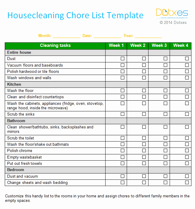 Weekly House Cleaning Schedule Template Unique An Efficient Weekly House Cleaning Schedule Template