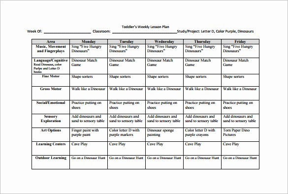 Weekly Lesson Plan Templates Free Best Of Weekly Lesson Plan Template 9 Free Sample Example