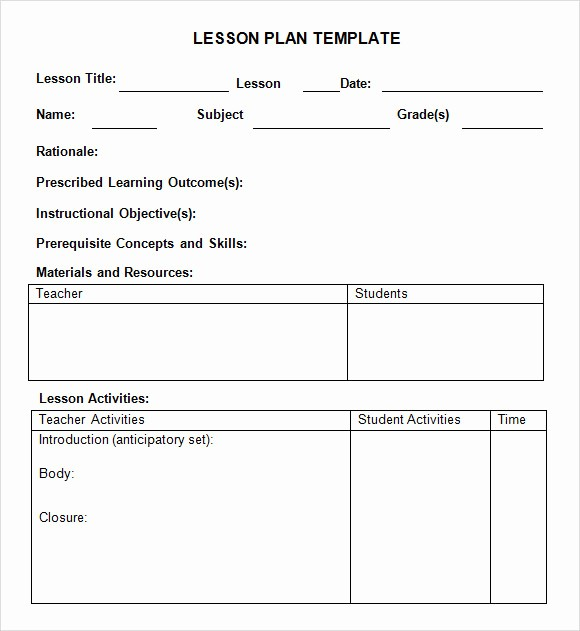 Weekly Lesson Plan Templates Free Lovely 8 Weekly Lesson Plan Samples