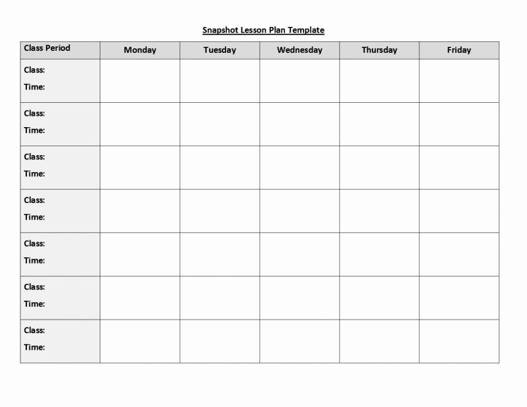 Weekly Lesson Plan Templates Free New Weekly Lesson Plan Template Doc