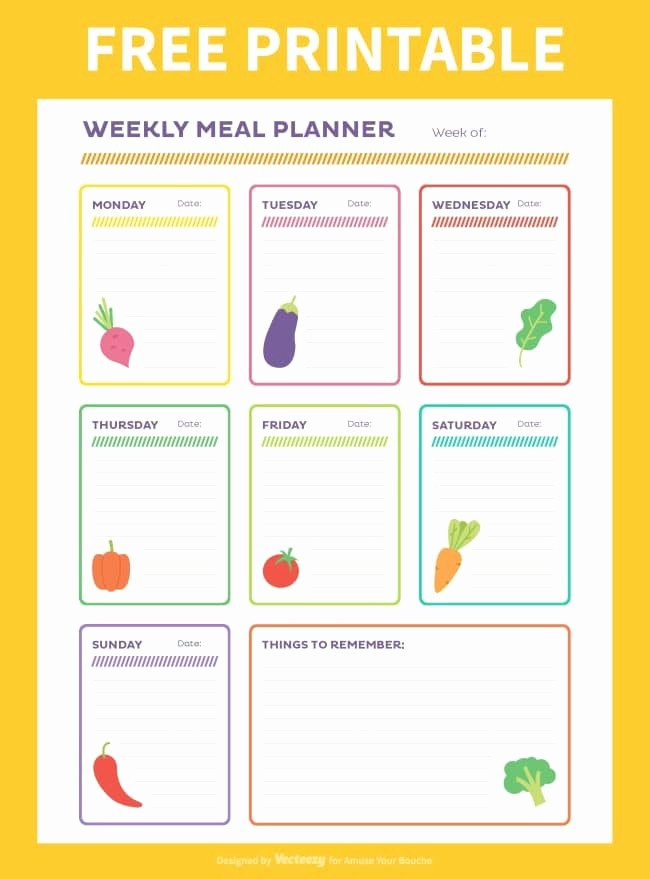 Weekly Meal and Snack Planner Awesome Free Weekly Meal Planner Printable Amuse Your Bouche