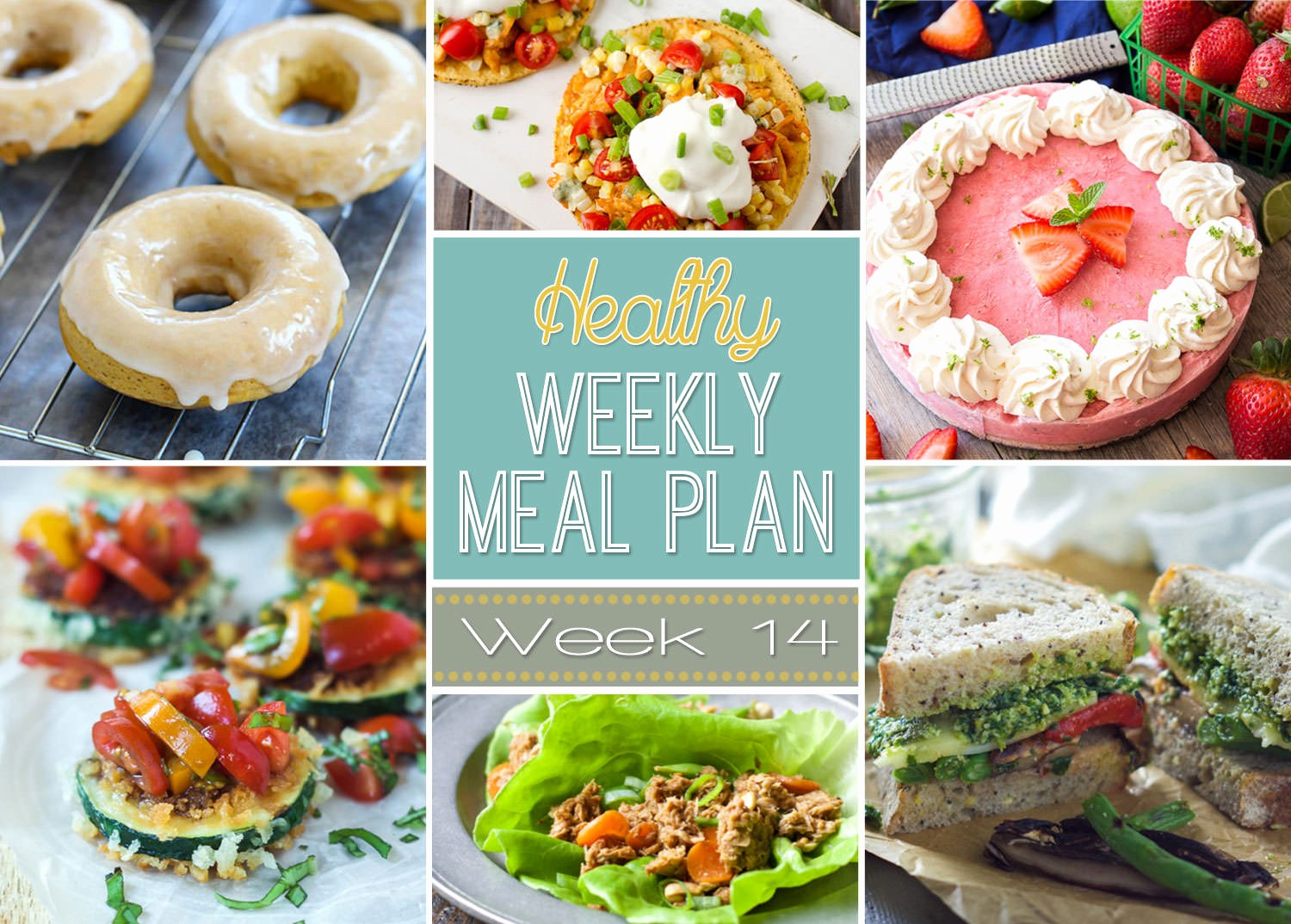 Weekly Meal and Snack Planner Awesome Healthy Weekly Meal Plan 14 Yummy Healthy Easy