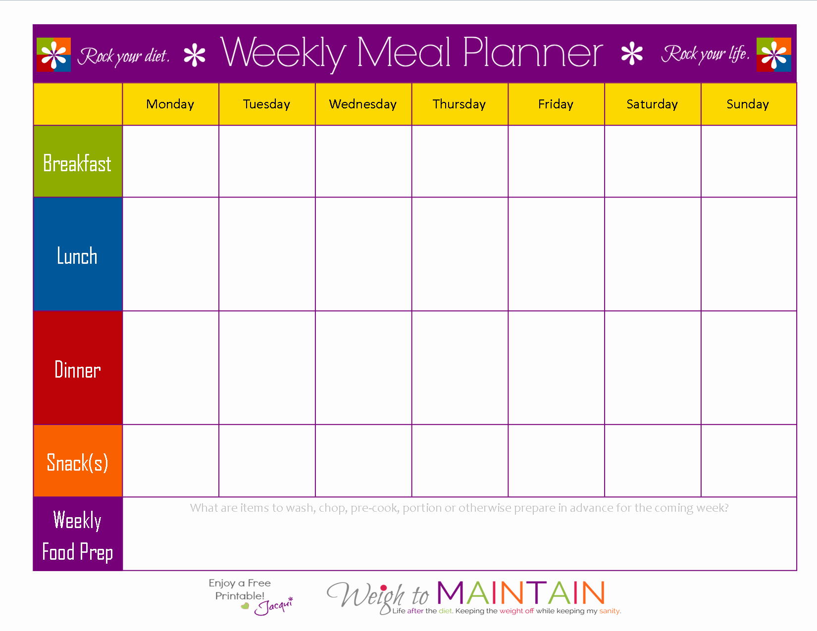 Weekly Meal and Snack Planner Awesome Meal Planning so Simple even A Gym Bro Can Do It with