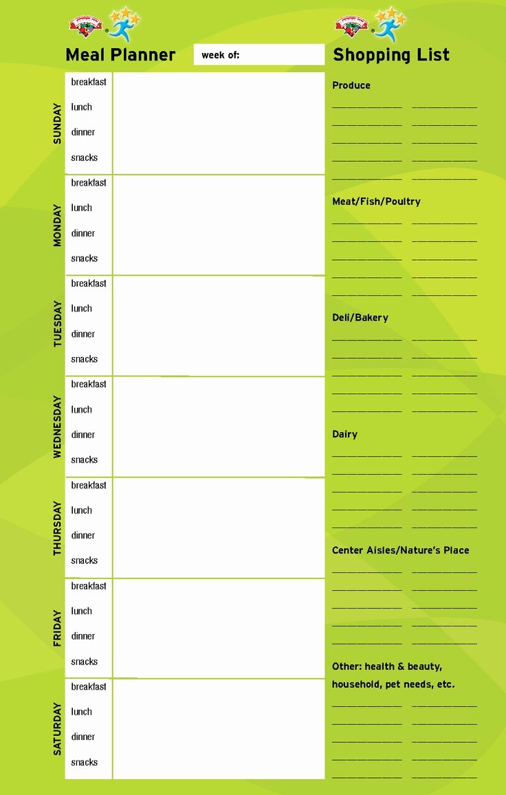 Weekly Meal and Snack Planner Beautiful Weekly Meal Planner with Snacks