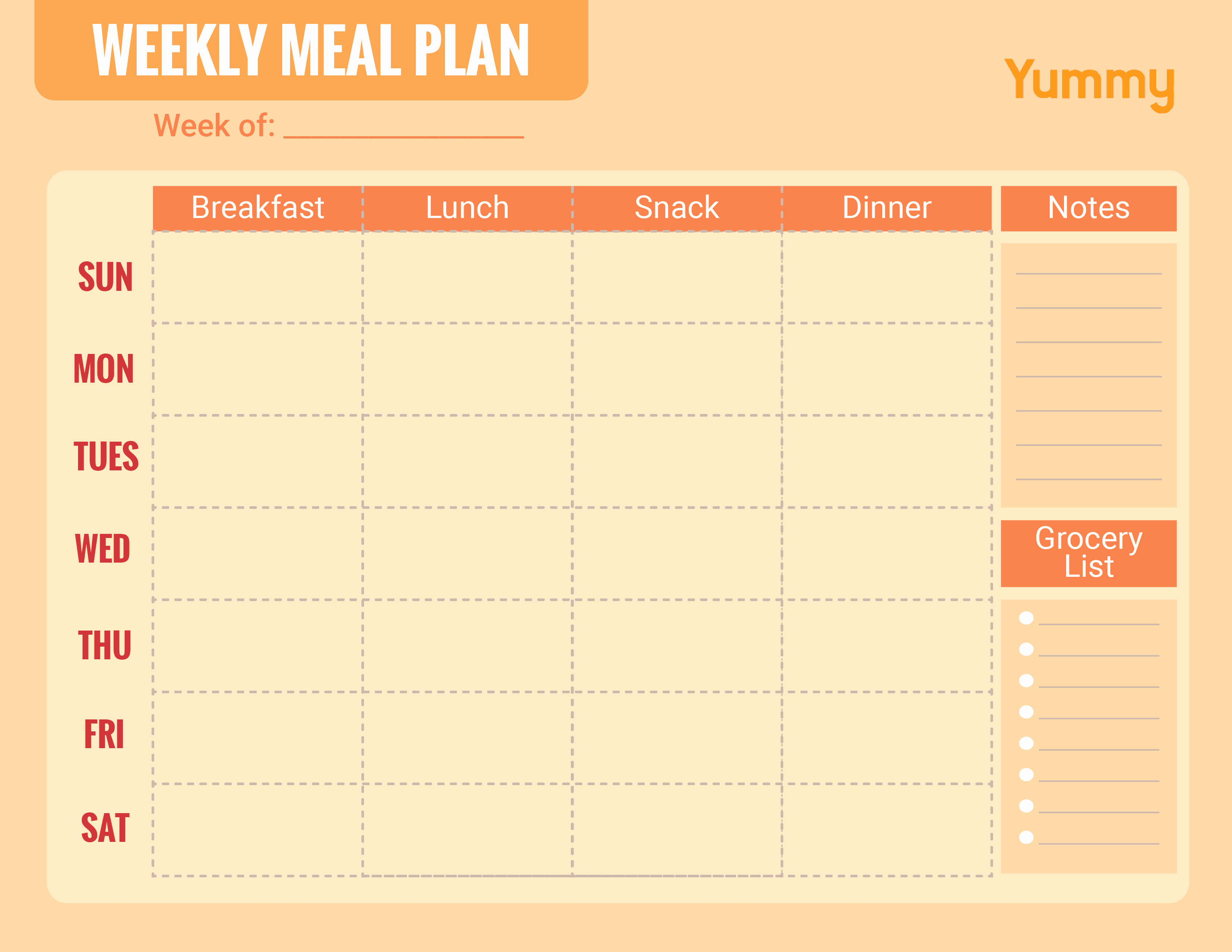 Weekly Meal and Snack Planner Best Of We Made A Weekly Meal Planner for You