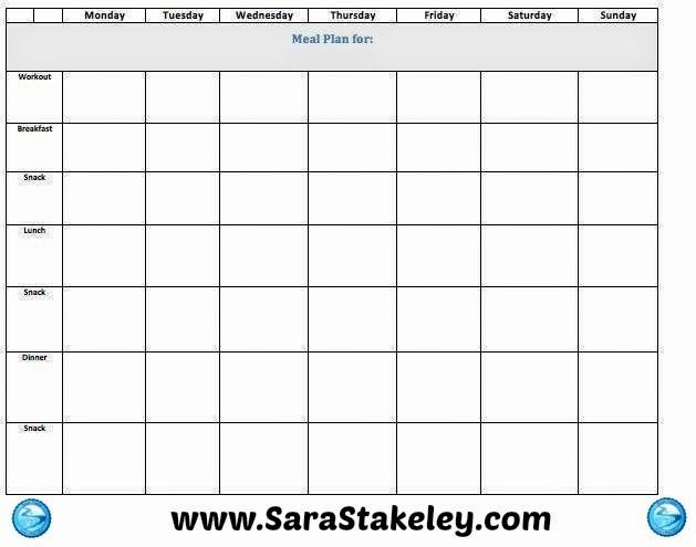 Weekly Meal and Snack Planner Fresh Blank Weekly Meal Plan Template Edit for Free