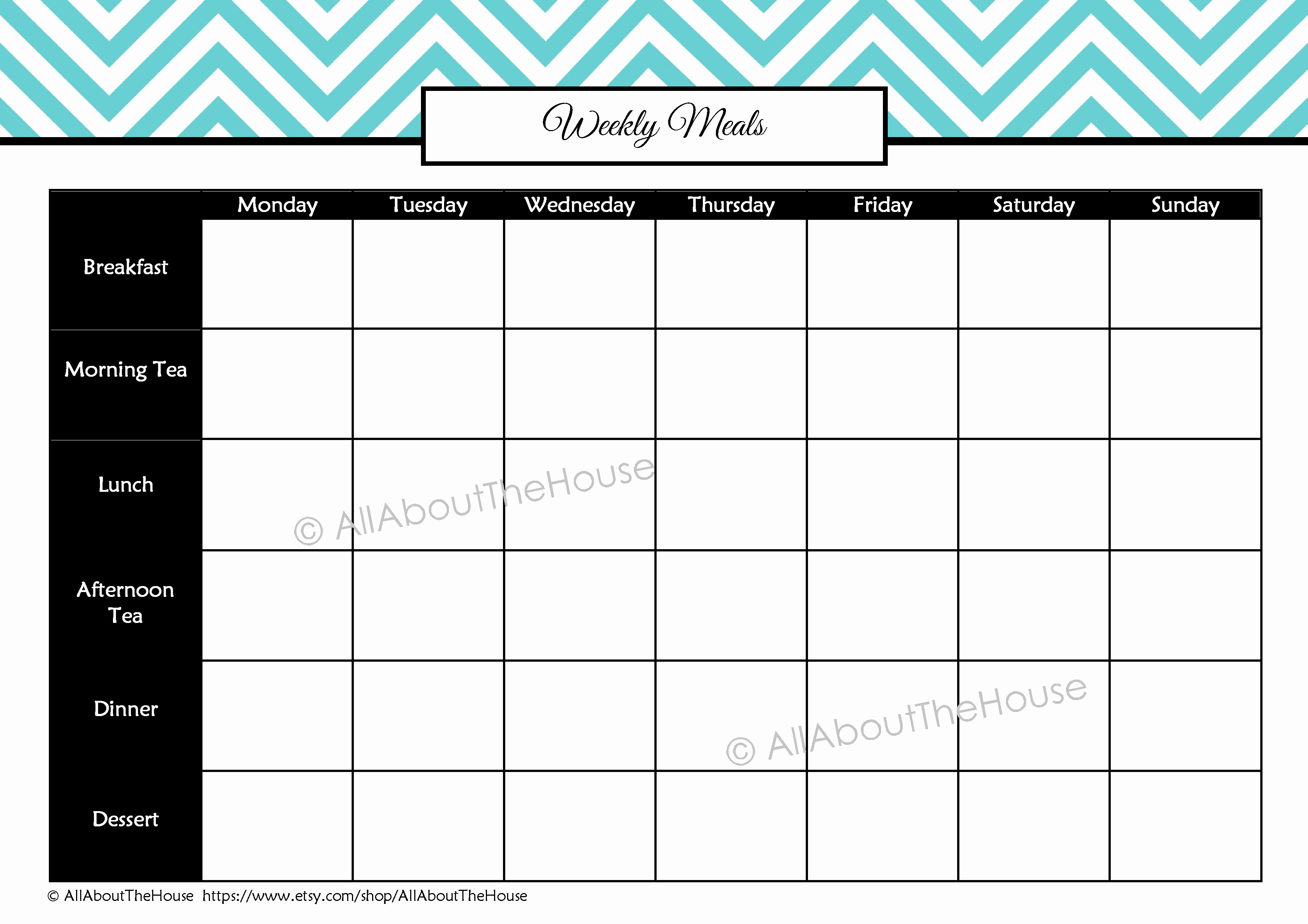 Weekly Meal and Snack Planner Inspirational Health and Fitness Printables Kit All About Planners