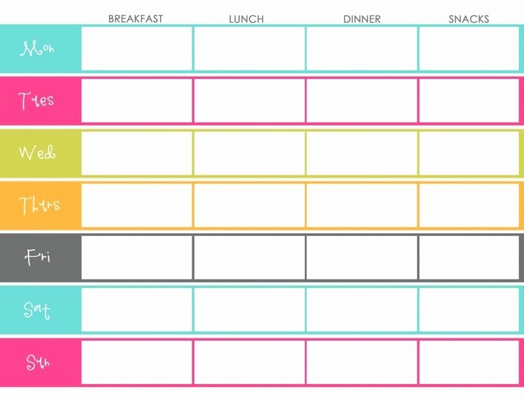 Weekly Meal and Snack Planner Inspirational Meal Planning – the Lemon Wedge