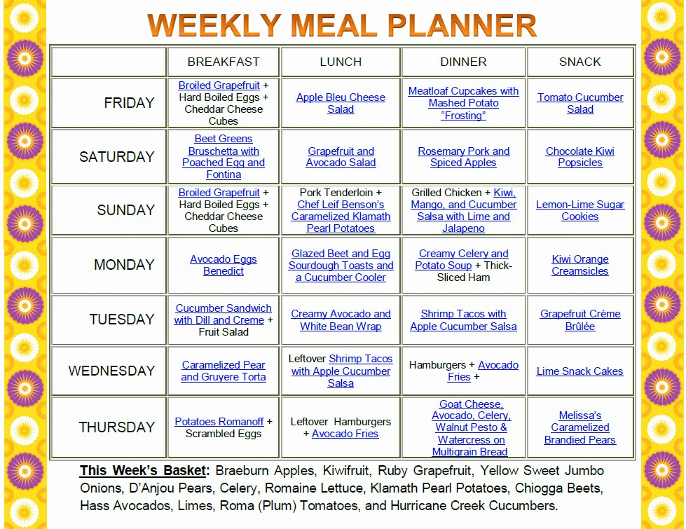 Weekly Meal and Snack Planner Lovely top Diet Foods Recipes Diet Food