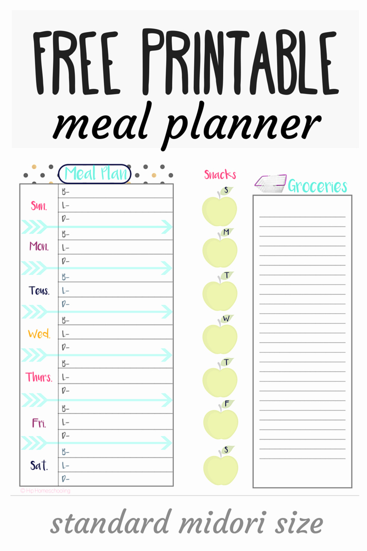 Weekly Meal and Snack Planner New Check Out This Free Meal Planner and Grocery List Midori