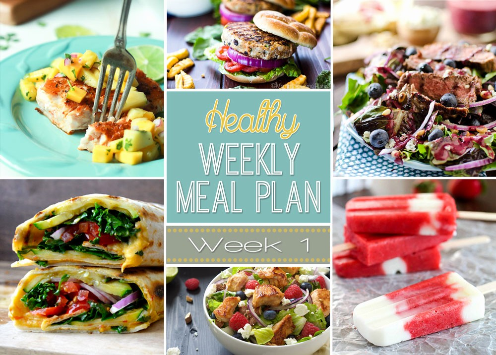 Weekly Meal and Snack Planner Unique Healthy Weekly Meal Plan 1