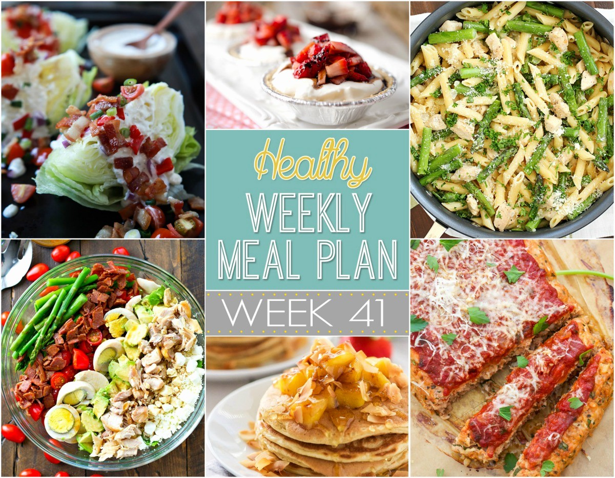 Weekly Meal and Snack Planner Unique Healthy Weekly Meal Plan Week 41