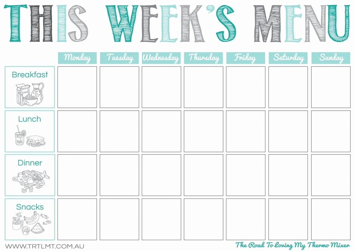 Weekly Meal and Snack Planner Unique Weekly Menu Idea – Two Kids and An Oven