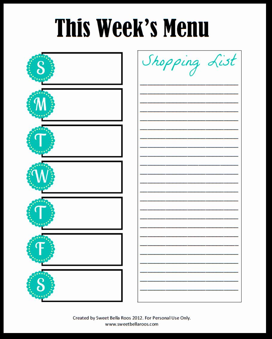 free menu planner printable freebie friday