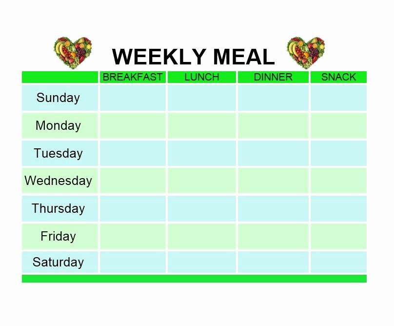 Weekly Meal Plan Template Free Elegant 40 Weekly Meal Planning Templates Template Lab
