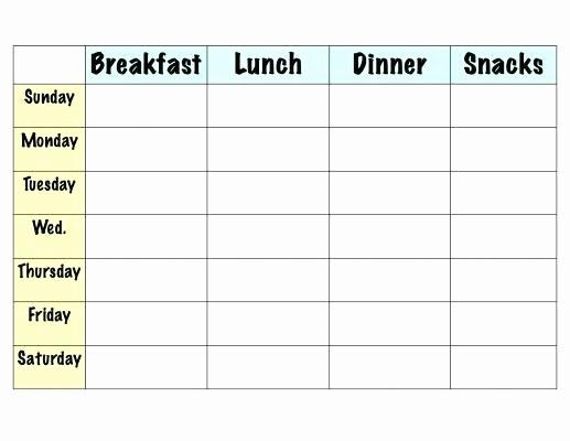 Weekly Meal Plan Template Free New Menu Planners Template – Helenamontanafo