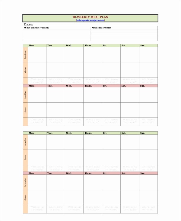Weekly Meal Plan Template Free New Weekly Meal Planner Template 9 Free Pdf Word Documents
