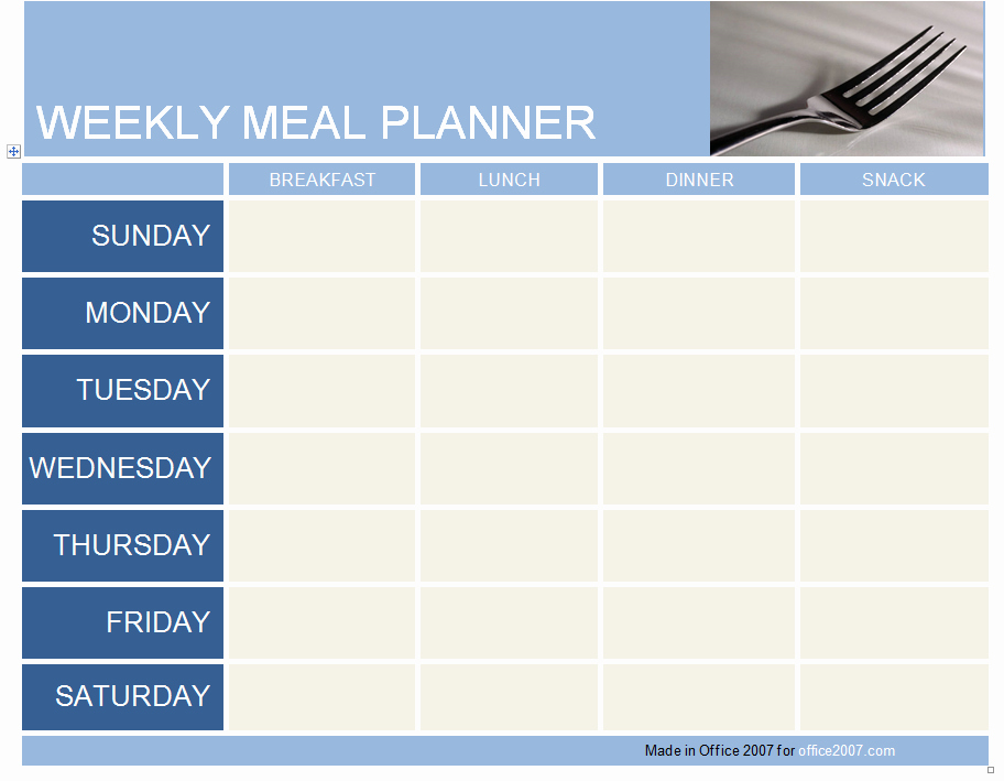 Weekly Meal Plan Template Free Unique Weekly Meal Planner Template