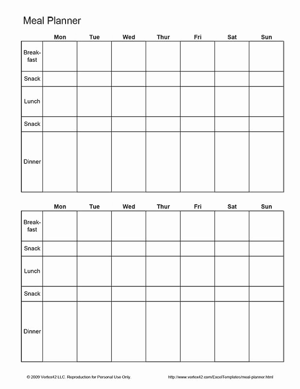 Weekly Meal Planner Template Pdf Best Of 25 Unique Meal Planner Template Ideas On Pinterest