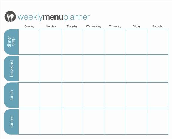 Weekly Meal Planner Template Pdf Elegant 31 Menu Planner Templates Free Sample Example format