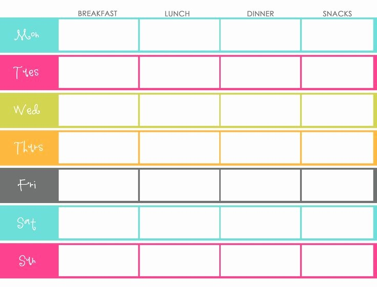 Weekly Meal Planner Template Pdf Fresh 25 Best Ideas About Meal Planning Templates On Pinterest