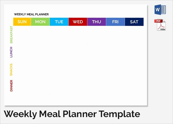 Weekly Meal Planner Template Pdf Lovely 35 Sample Weekly Schedule Templates