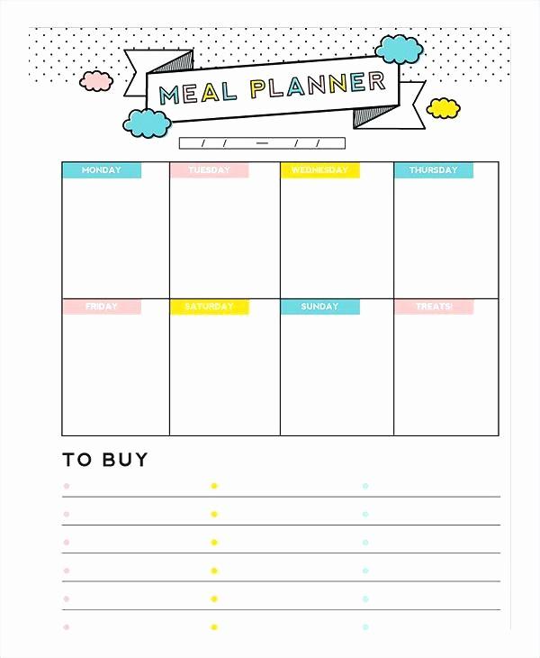 Weekly Meal Planner Template Pdf Lovely Free Printable Weekly Meal Plan Sheet Blank Planner Menu