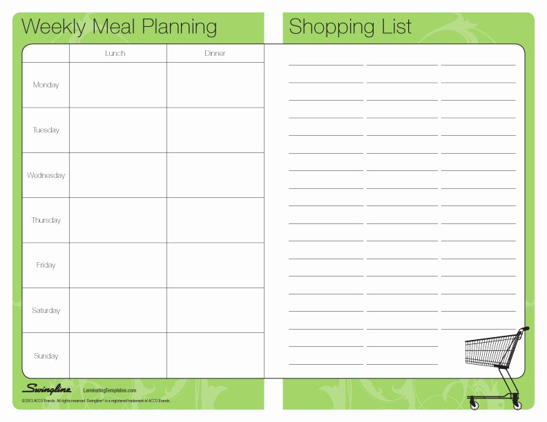 Weekly Meal Planner Template Pdf Lovely Meal Planner Template