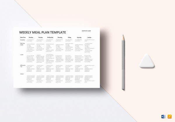 Weekly Meal Planner Template Pdf Luxury Weekly Meal Planner 10 Free Pdf Psd Documents Download
