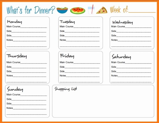 Weekly Meal Planner Template Pdf Unique Best 25 Meal Planning Templates Ideas On Pinterest