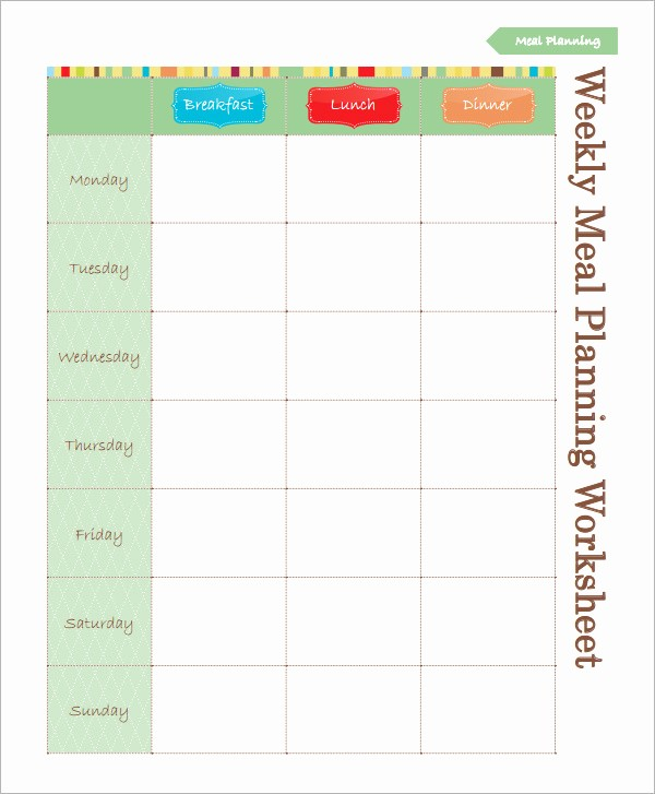 Weekly Meal Planner Template Pdf Unique Printables Meal Planner Worksheet Mywcct Thousands Of