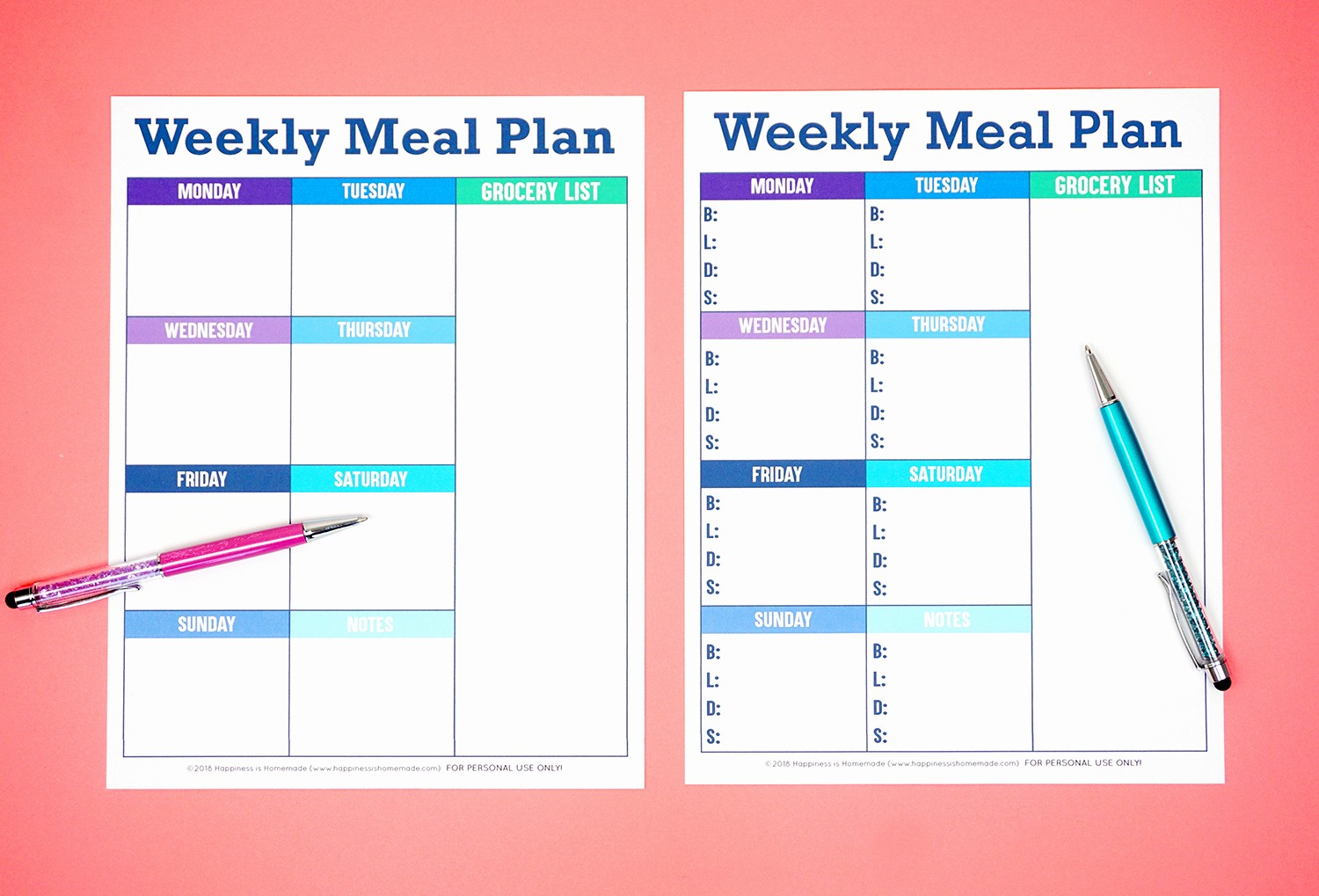 Weekly Meal Planner Templates Free Awesome Printable Weekly Meal Planner Template Happiness is Homemade