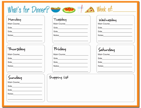 Weekly Meal Planner Templates Free Beautiful Weekly Meal Planner Free Printable 24 7 Moms
