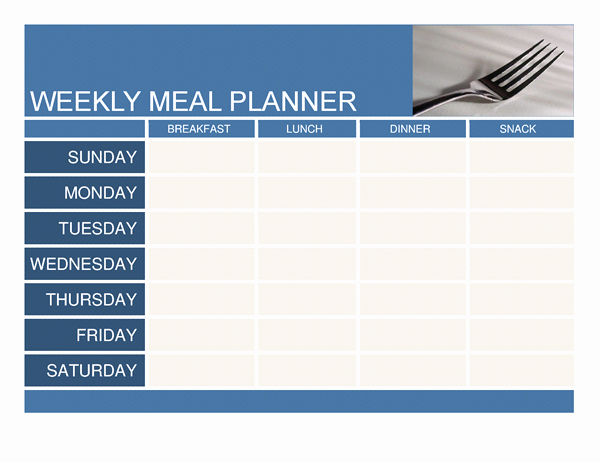 Weekly Meal Planner Templates Free Beautiful Weekly Meal Planner Template Word