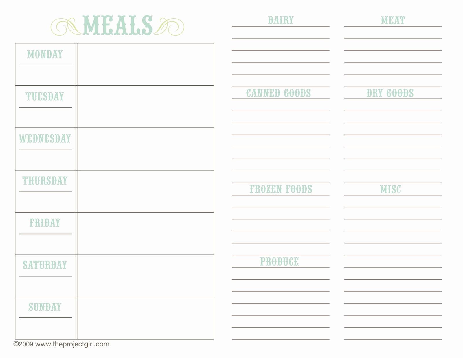 Weekly Meal Planner Templates Free Elegant Weekly Meal Planner Template Beepmunk