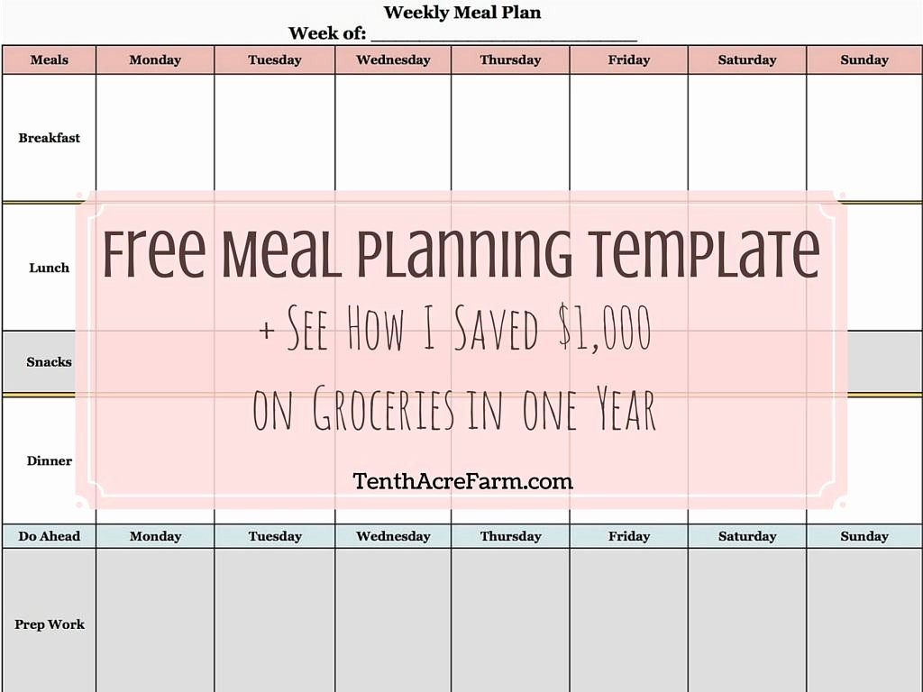 Weekly Meal Planner Templates Free Elegant Weekly Meal Planning Template See How I Saved $1 000 On