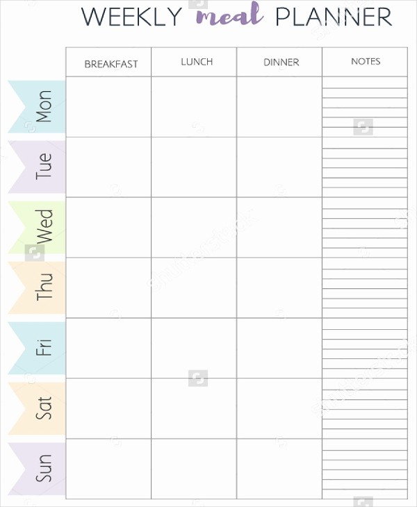 Weekly Meal Planner Templates Free Fresh Meal Plan Template 21 Free Word Pdf Psd Vector