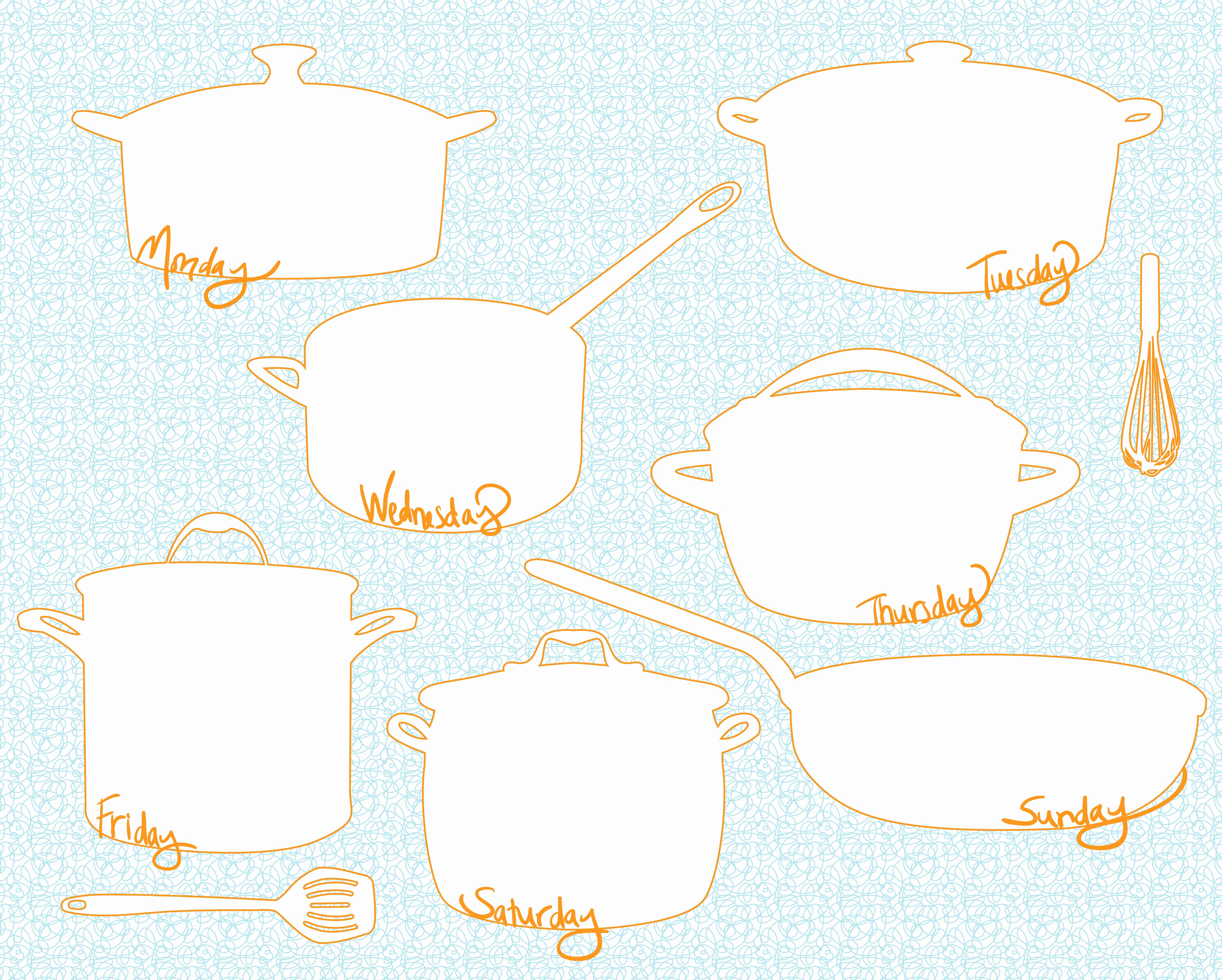 Weekly Meal Planner Templates Free Lovely Ollibird