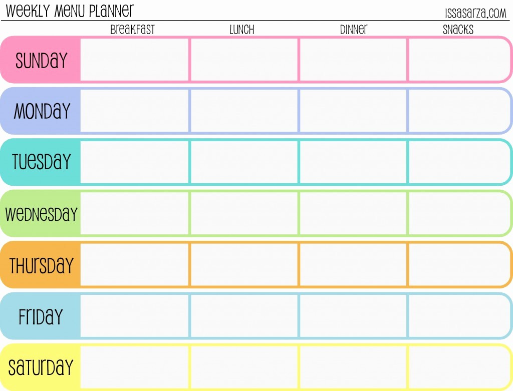Weekly Meal Planner Templates Free Luxury the Happy Hippie Homemaker Money Saving Monday