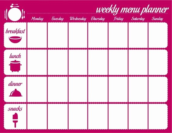 Weekly Meal Planner Templates Free New 45 Printable Weekly Meal Planner Templates
