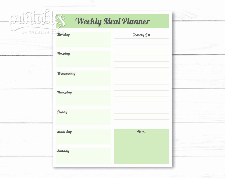 Weekly Meal Planning Template Free Elegant Editable Meal Planner Template Weekly Meal Planner with