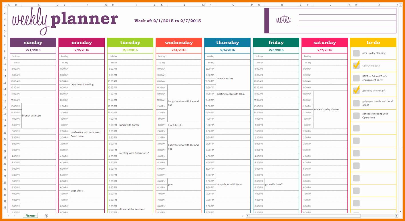 Weekly Meal Planning Template Free Elegant Weekly Meal Planner Template Excel Templates Data