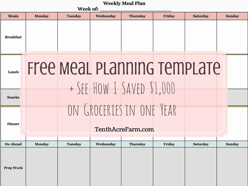 Weekly Meal Planning Template Free Elegant Weekly Meal Planning Template See How I Saved $1 000 On