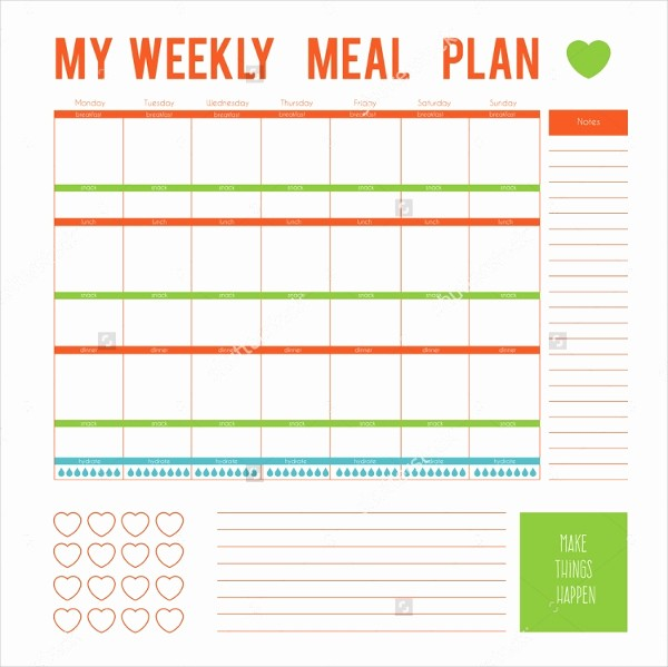 Weekly Meal Planning Template Free Inspirational Meal Plan Template 21 Free Word Pdf Psd Vector