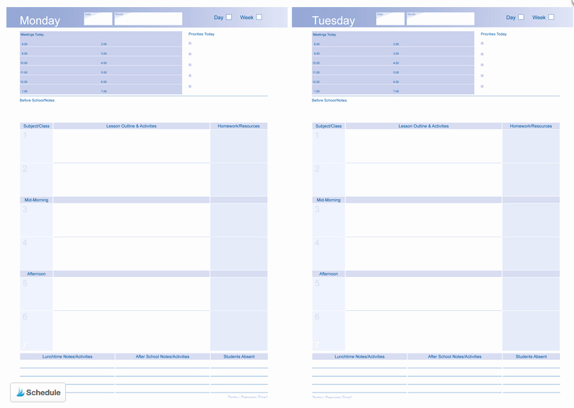 Weekly Planner Template for Teachers Awesome where Can I Get A Teacher Planner