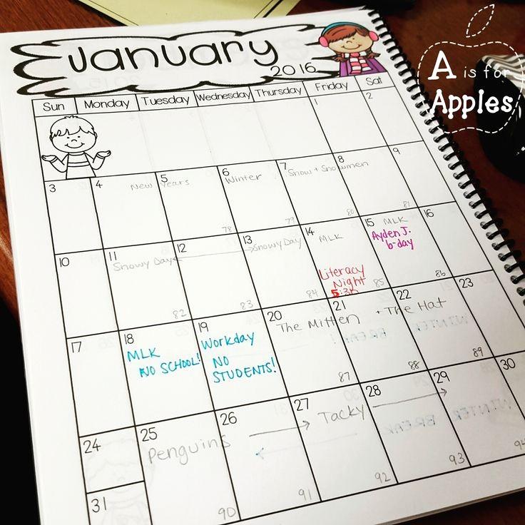 Weekly Planner Template for Teachers Beautiful Best 25 Teacher Calendar Ideas On Pinterest