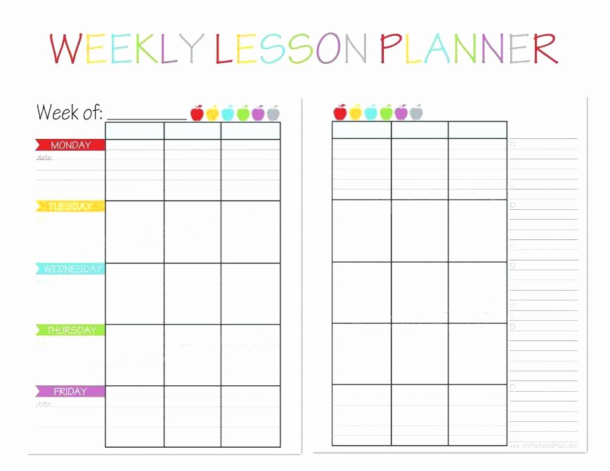 Weekly Planner Template for Teachers Beautiful Weekly Teacher Lesson Plan Template – Dressie