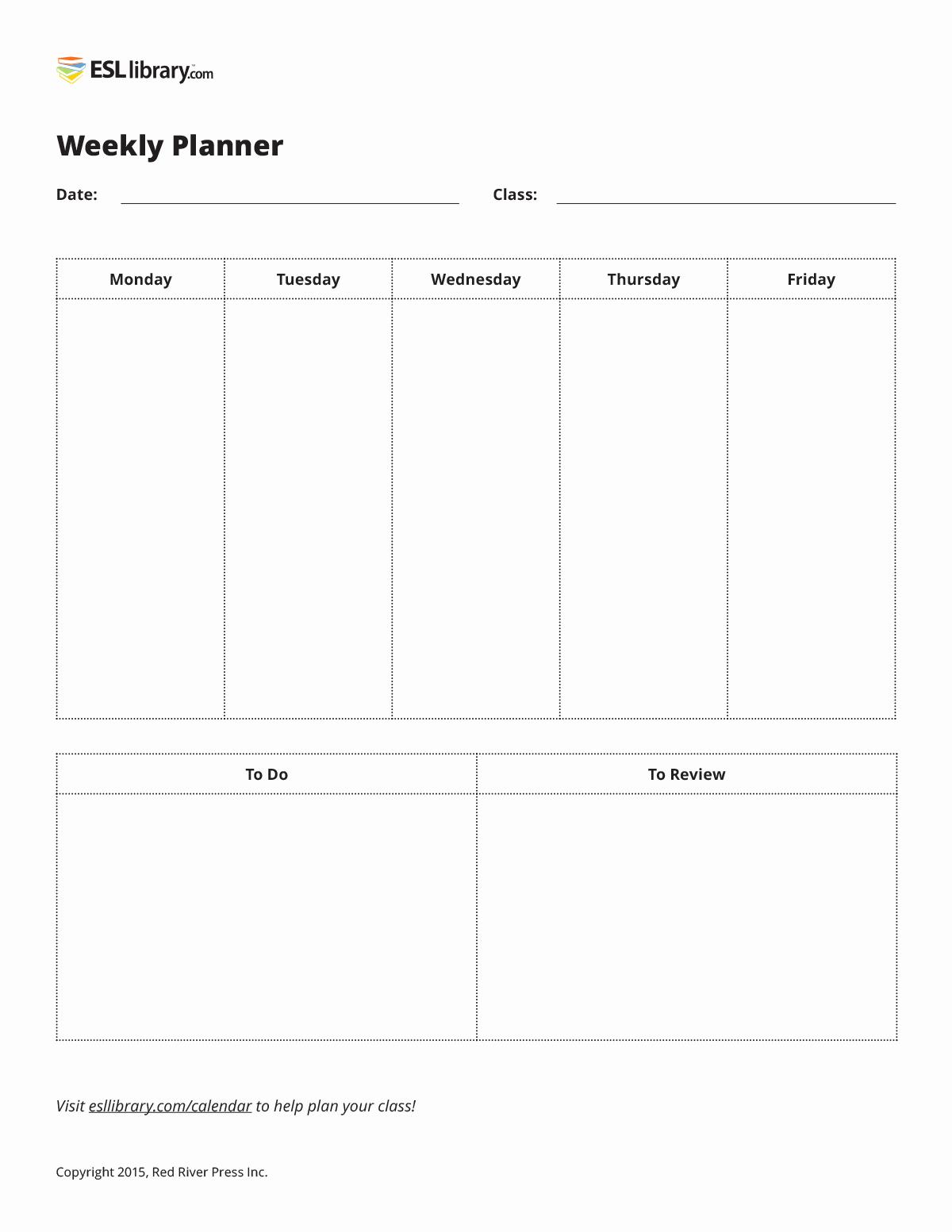 Weekly Planner Template for Teachers Elegant Lesson Planning tools & Tips for Teachers – Esl Library Blog