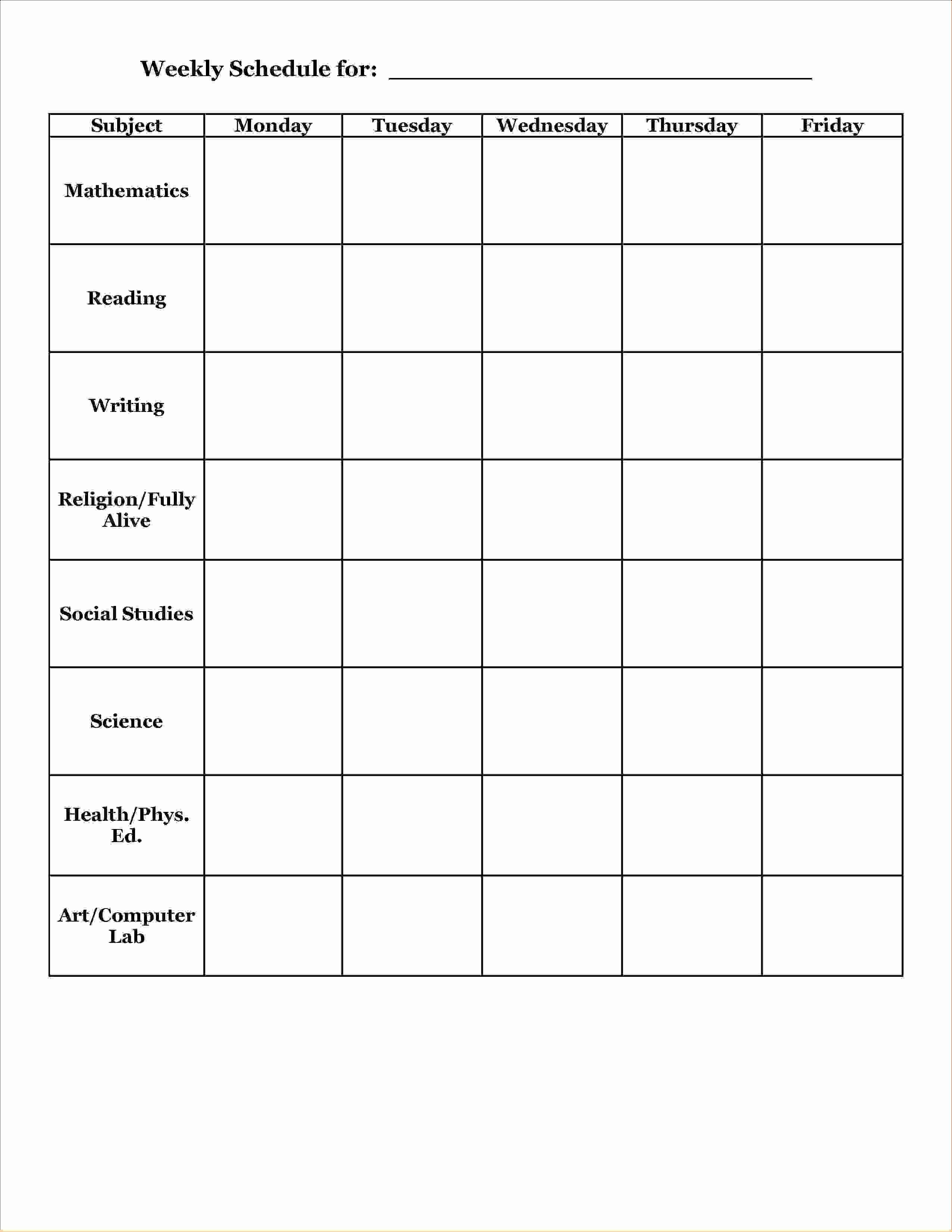 Weekly Planner Template for Teachers Inspirational 12 School Agenda Templateagenda Template Sample